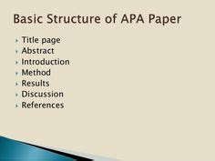 Writing a thesis statement for apa format paper
